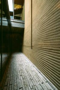 竹中大工道具館の佐官による壁