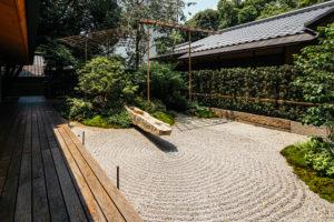 竹中大工道具館の枯山水庭園