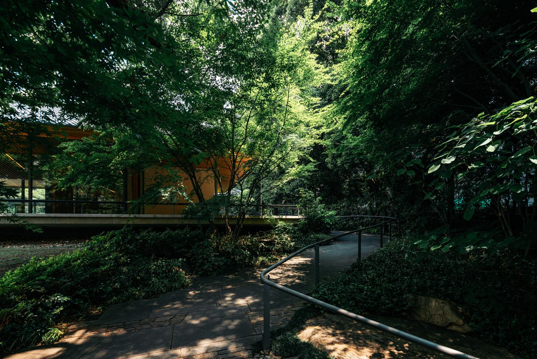 竹中大工道具館の入口通路