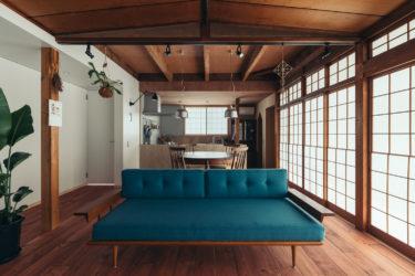 滋賀県で古民家リノベーション住宅の建築写真撮影